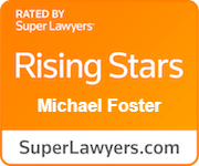 Logo Recognizing Foster Wallace, LLC's affiliation with Superlawyer Rising Stars